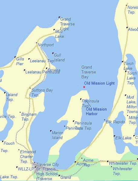 Map of Grand Traverse Bay