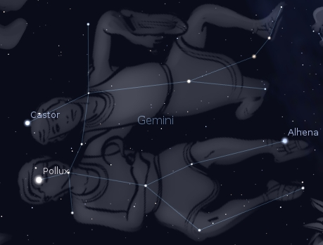 Gemini with Castor and Pollux
