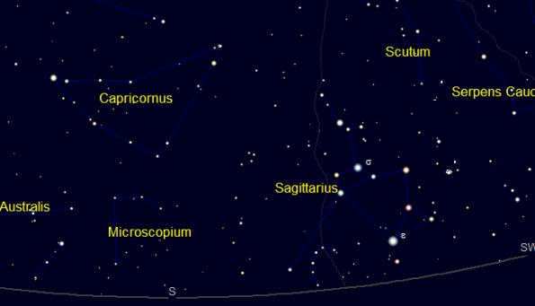 Capricornus represented in Cartes du Ciel