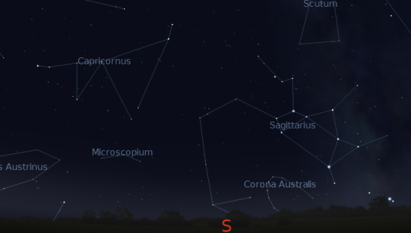 Capricornus as represented by Stellarium