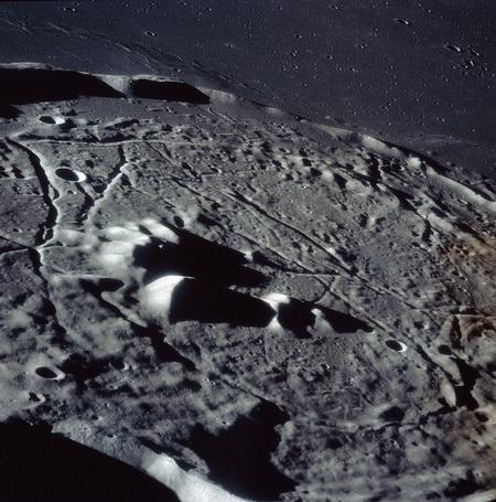 The crater Gassendi from Apollo 16 - NASA