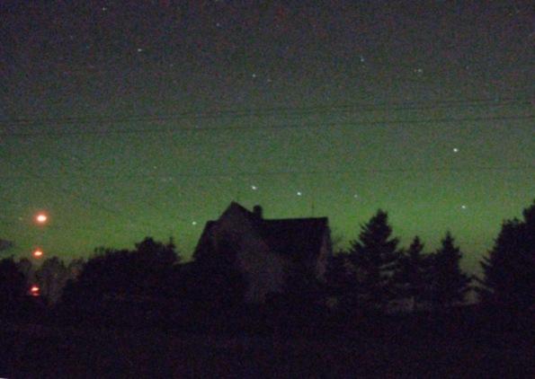Aurora looking north at 10/24/2011 at 10:52 p.m.
