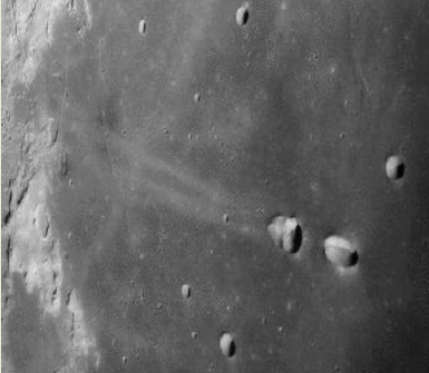 The Craters Messier A and B from Apollo 11. NASA