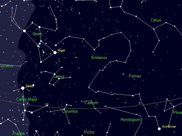 12/27/11 – Ephemeris – The constellation of Eridanus the ...