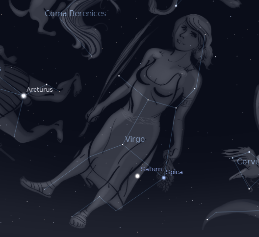 Virgo 2012.  Created using Stellarium.
