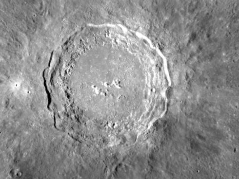 The crater Copernicus. Credit: NASA/GSFC/Arizona State University.