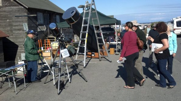 GTAS telescopes at Leland Heritage Celebration in 2011.