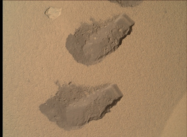 Scoop marks at RockNest.  Image credit:  NASA/JPL-Caltech/Malin Space Science Systems