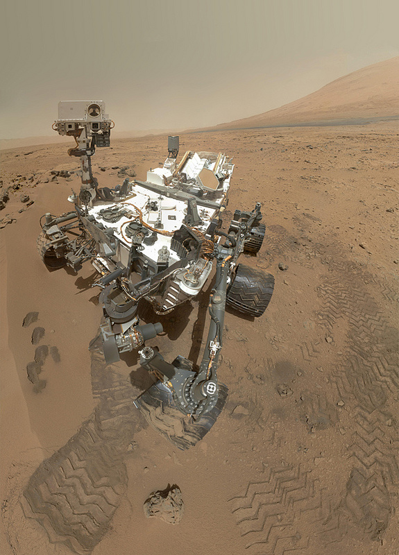 Curiosity rover self portrait.