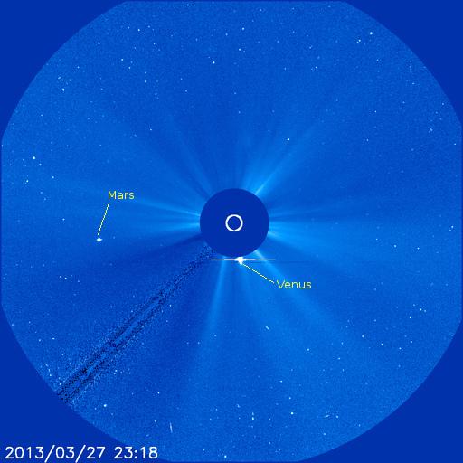 SOHO LASCO C3 image of the sun