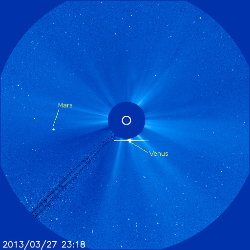 SOHO LASCO C3 image of the sun