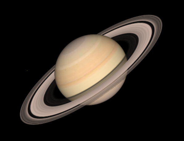 Saturn rising in the evening in May, 2013