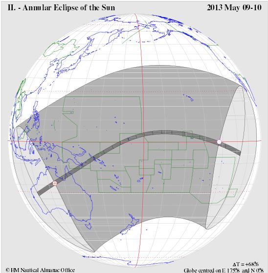 Annular eclipse path