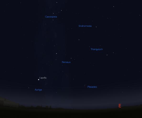 Pleiades finder chart