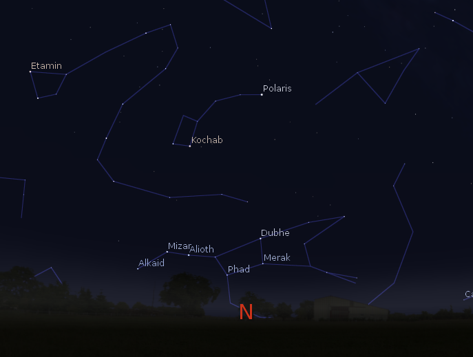 how to find the north star with the big dipper