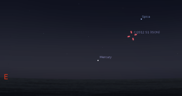 Mercury and Comet ISON
