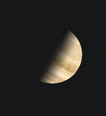 Telescopic view of Venus