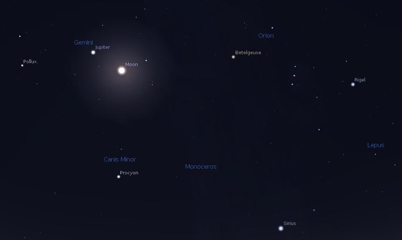 moon viewing jupiter tonight - photo #15