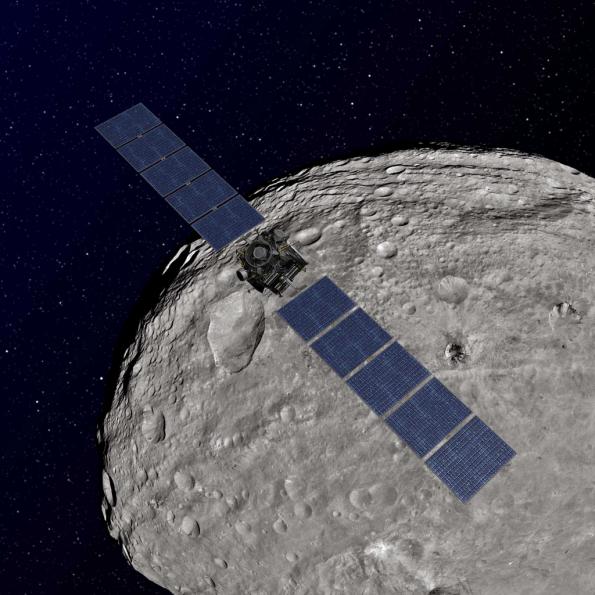 Dawn spacecraft at Vesta