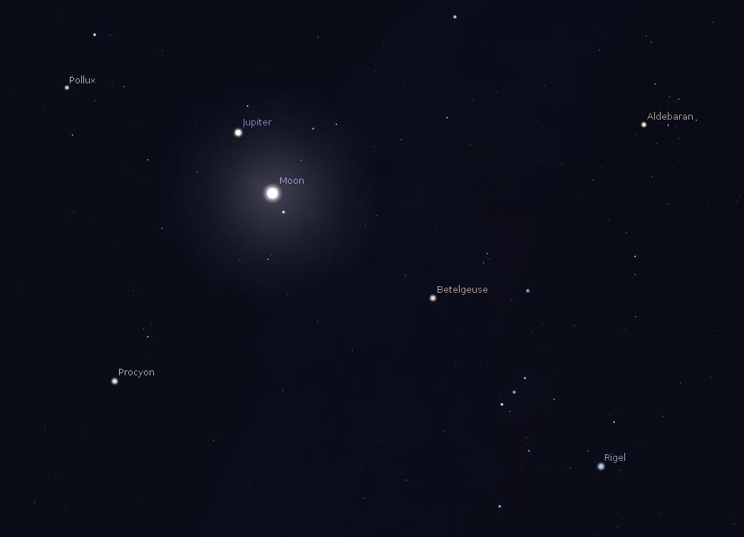 02/10/2014 – Ephemeris – Jupiter will appear near the Moon ...