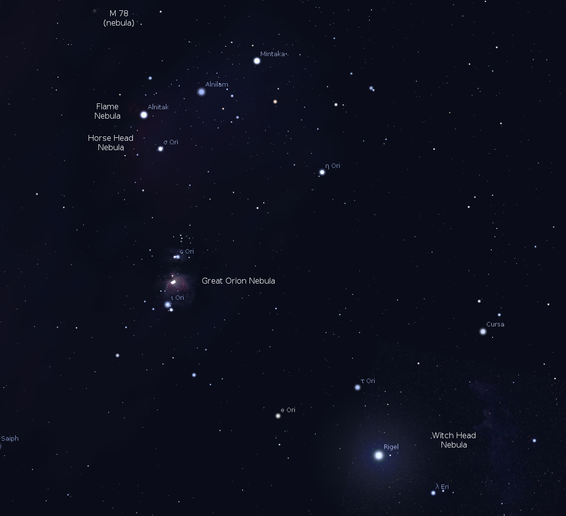 orion nebula location - photo #37