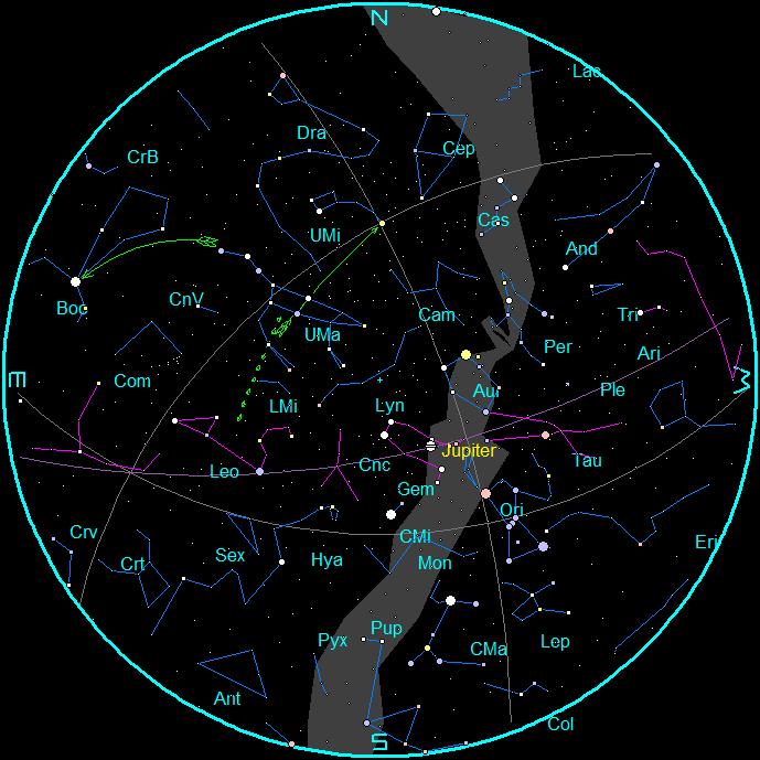 Star Chart Template - Star map northern hemisphere