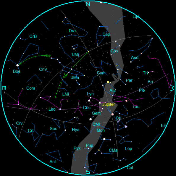 March 2014 Star Chart