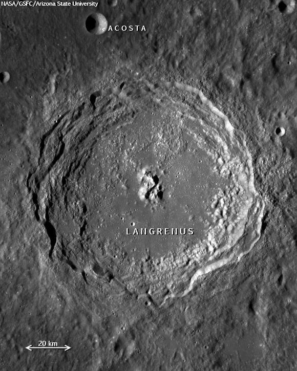 LRO image of Langrenus