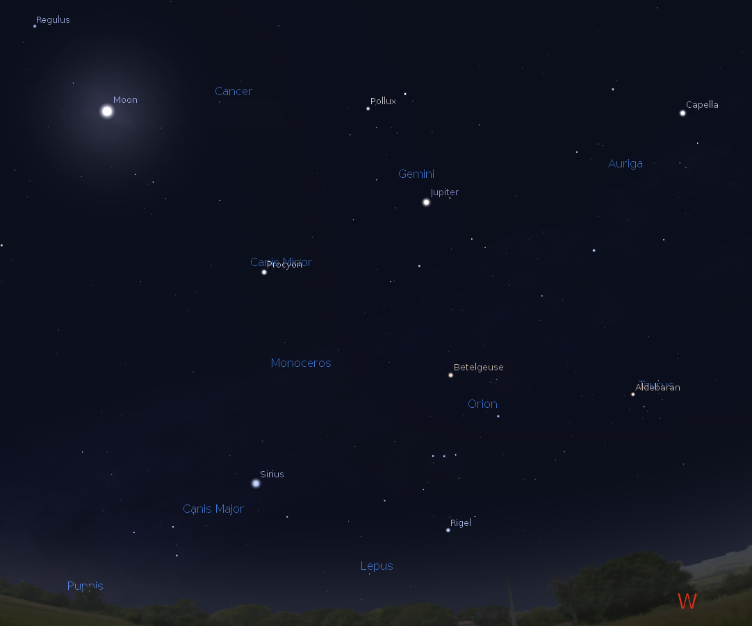 04/09/2014 – Ephemeris – Where are Mars and the other planets this