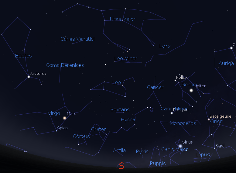 Constellation Lions: location and bright stars