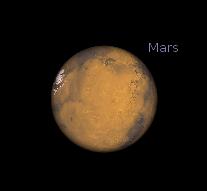 Mars through a telescope