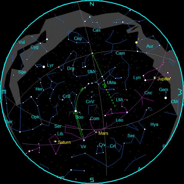 May Star Chart