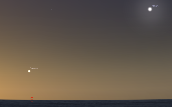 Venus and the Moon in the morning