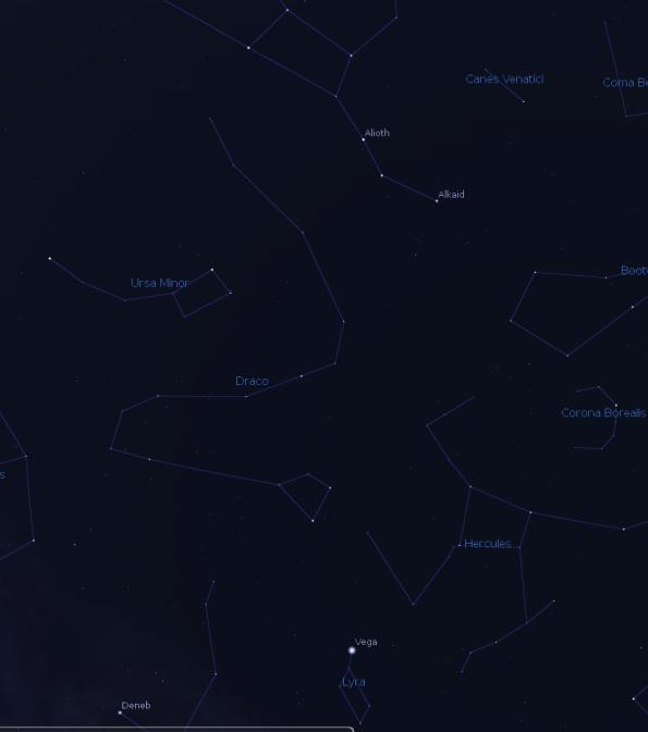 Draco via Stellarium