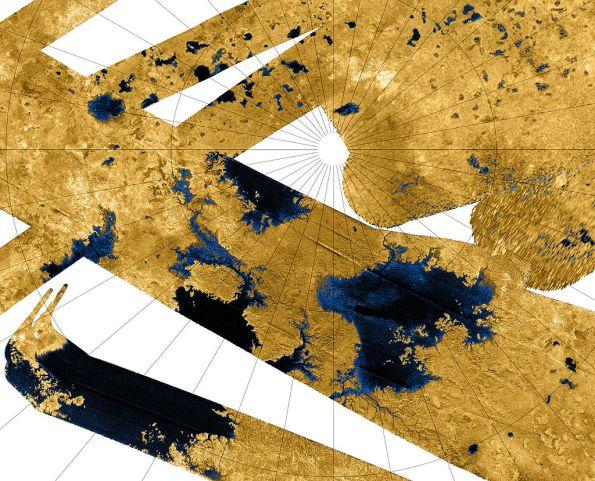 Titan's north polar lakes