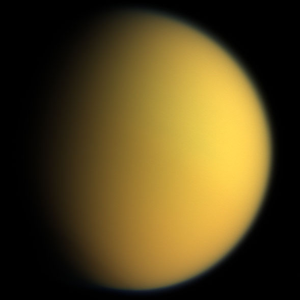 Titan in white light