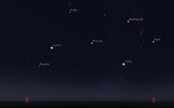 Jupiter and the morning stars