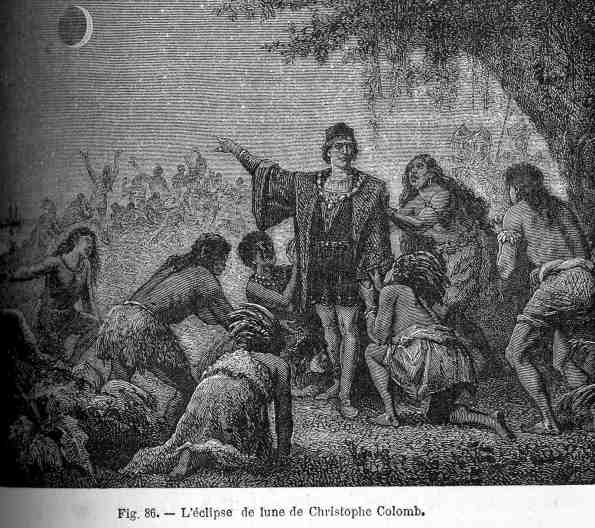 Columbus and the eclipse