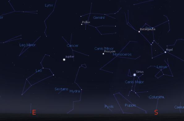 Jupiter and the winter stars