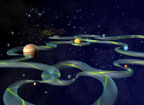 Interplanetary Transport Network