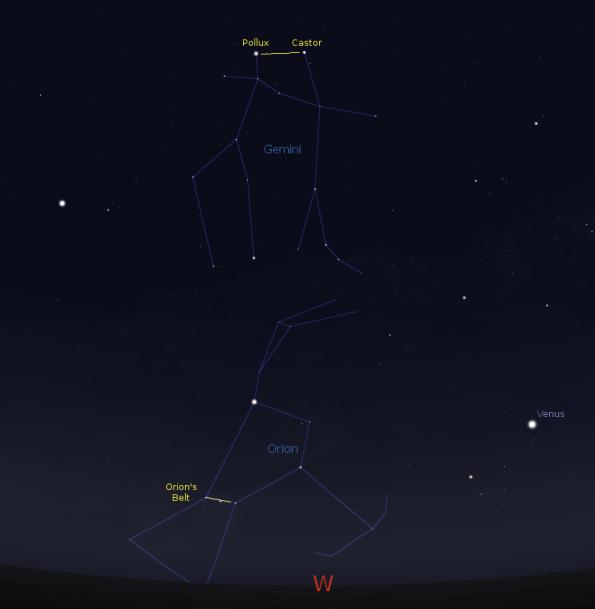 Orion Setting