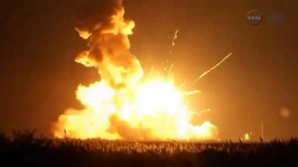 Orbital Sciences Antares rocket explodes