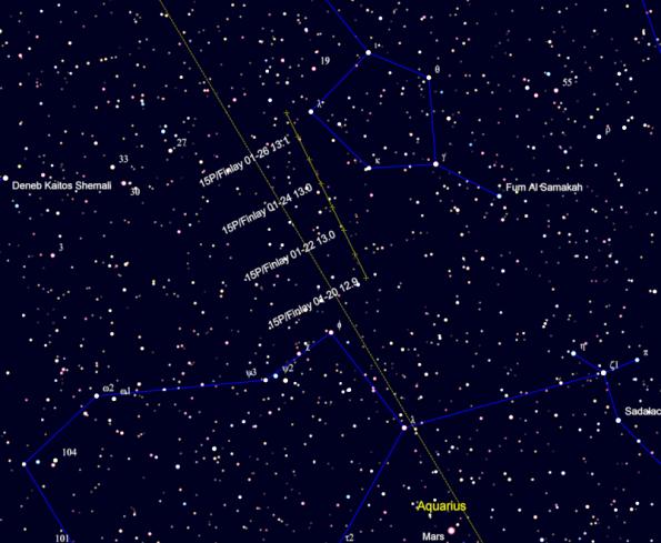 Comet Finley finder chart