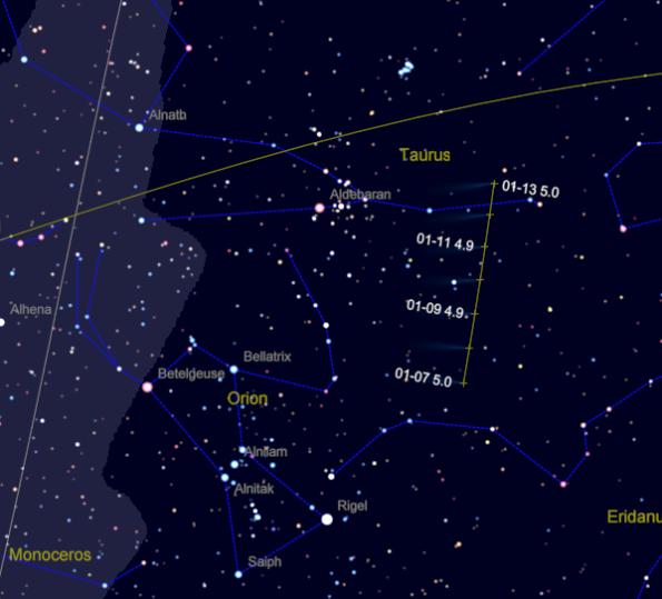 Comet Lovejoy track