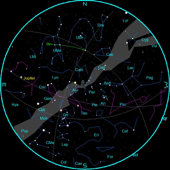 January 2015 star chart