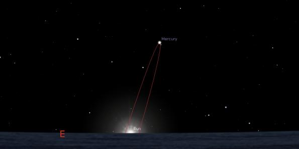 Autumn western elongation of Mercury