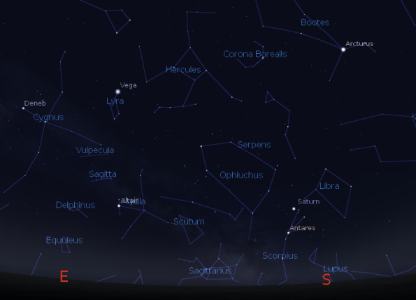 Saturn and the Summer Constellations