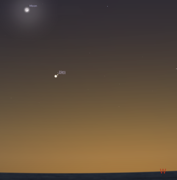 Venus and Mars in conjunction
