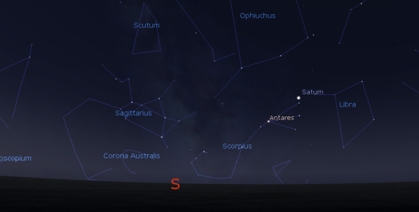Saturn finder chart