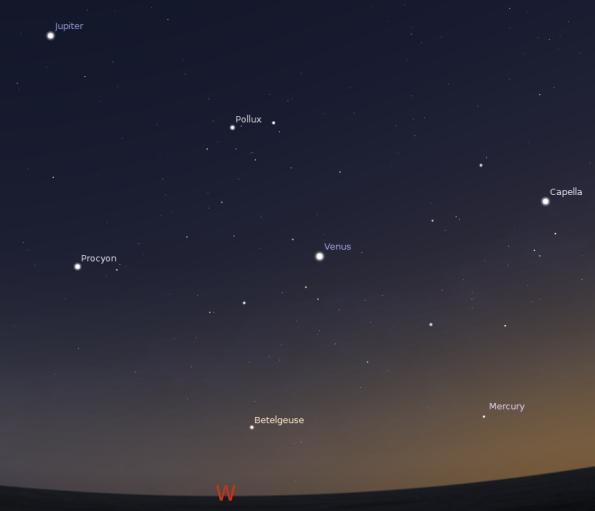 Mercury, Venus, Jupiter